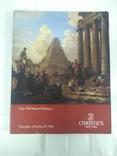 CHRISTIE'S CATALOG : Fine Old Master Paintings : October 20 1988