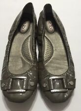 Me Too Ballet Flat Leather Shoes Gray Size 8 M