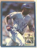 TORONTO BLUE JAYS JOE CARTER HAND SIGNED 8x10 FRAMED MAGAZINE PHOTO UPPER DECK