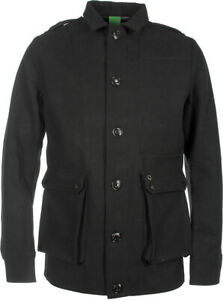 MA STRUM Men's 3 Layer Black Wool Camp Jacket Size: XXL EXCELLENT Condition
