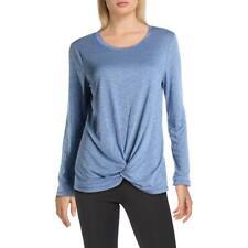 Ideología para mujer nudos delantero Active Wear Fitness Camiseta Top BHFO 1391