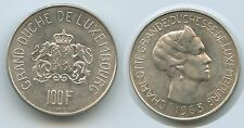 G7709 - Luxembourg 100 Francs 1963 KM#52 XF Silver Scarce Charlotte Luxemburg