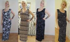 Full Length Viscose Floral Maxi Dresses for Women