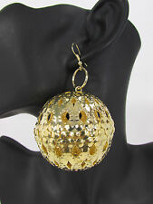 New Women Gold Fashion Earrings Set Metal Disco Balls Hip Hop Hook Dangle Dressy