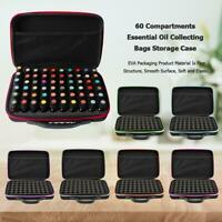 60 Compartments Essential Oil Bottle Storage Bag Portable Travel Collecting Case