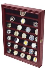 Military Challenge Coin Display Case Cabinet Rack Holder With Door