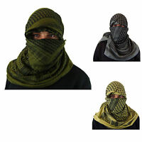 Shemagh Military Army Cotton Heavyweight Arab Tactical Desert Keffiyeh Scarf