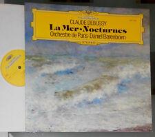 CLAUDE DEBUSSY LA MER, NOCTURNES ORCHESTRE DE PARIS DANIEL BARENBOIM LP