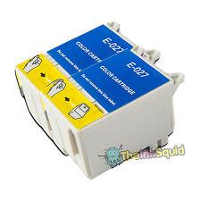 2 T027 Color no-OEM Cartuchos de tinta para la impresora fotográfica Epson Stylus 830U 925 935