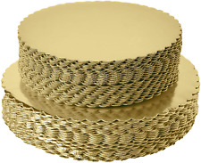 """[25pcs]10"""" Gold Cakeboard Round,Disposable Cake Circle Base Boards Cake Plate of"""