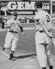 1940 Boston Red Sox JIMMIE FOXX & TED WILLIAMS Glossy 8x10 Photo Baseball Poster
