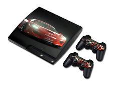 PS3 PlayStation 3 Slim Skin Design Foils Aufkleber Schutzfolie Set - Car Motiv
