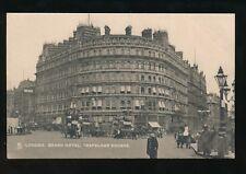LONDON Trafalgar Square Grand Hotel street scene Tuck #2002 c1900s? PPC