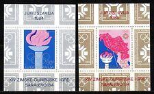 Yugoslavia - 1984 Olympic games Sarajevo Mi. Bl. 24-25 MNH