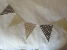 Handmade Polka dot Design Shabby chic PVC Flags with Ribbon 20ft