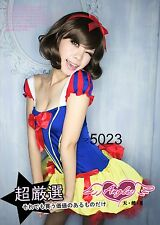 3PC Women Adult Snow white princess Party Cosplay Costume Outfits Dress Sets