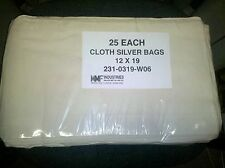 """MMF CLOTH CURRENCY BAGS 12"""" x 19"""" COTTON  200 UNITS IN STOCK! Model 213-0319-W06"""