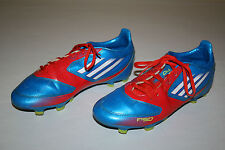 FREE SHIPPING Adidas F10 F50 Mens Sz 6 Blue Red White Green Soccer Cleats Shoes