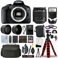 Canon EOS 2000D / T7 DSLR Camera w/ 18-55mm + 16GB 3 Lens Ultimate Accessory Kit