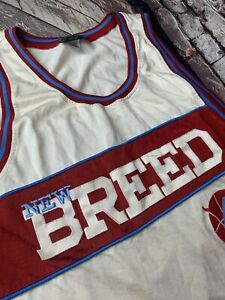 RUCKER VINTAGE NY SIZE 58 SEWN ON  Basketball Jersey STALL & DEAN NEW BREED