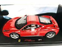 HOT WHEELS Elite Ferrari 458 Italia Red 1:18 Scale Diecast Model Car Mattel