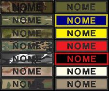 Patch nome softair toppa TOPPE personalizzata 10 PZ. KIT AIRSOFT ESERCITO NOMI