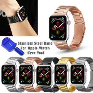 Stainless Steel For Apple Watch Strap Band +Tool Series 6/5/4/SE 38/40/42/44mm