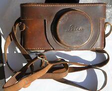 Leica Borsa cuoio originale per leica a vite fino leica IIIF ottima
