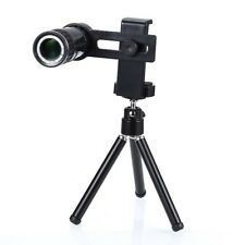12X Zoom Universal Mobile Phone Telescope Camera Lens & Tripod+Adjustable Holder