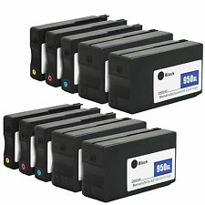 8 Pk ink cartridges for HP 950XL 951XL OfficeJet Pro 8100 8600 8615 8625 Printer