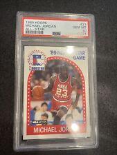 New listing 1989-1990 Hoops MICHAEL JORDAN ALL STAR PSA 10 - GEM MINT! New Holder