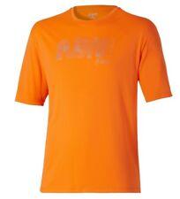 NEW ASICS orange MENS ( LARGE ) RUN ADDICT graphic top