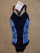 "Unworn SPEEDO Girls Vintage 80s Ultrastretch Swimsuit Bust 28"" / 71cms Age 10"