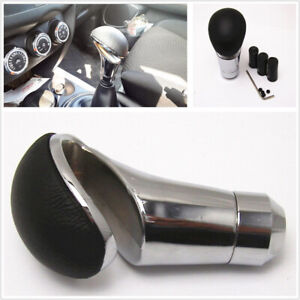 Universal Leather Manual Car Gear Shift Knob Shifter Stick Lever 8mm/10mm/12mm