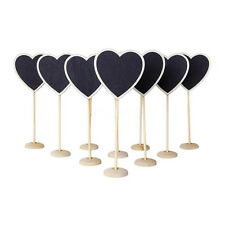 10 x Heart Blackboard on Stand - Wedding Table Numbers sign - Place Cards Stalls