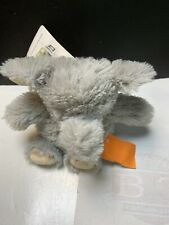 """Warmies Microwavable French Lavender Scented Gray Plush 9"""" Elephant Snuggable"""