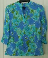 NWT Talbots Womans Top XS Tunic Style Banded Neckline 3/4 Sleeve Beaded $3.50 SH