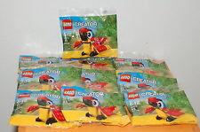 Lot of 10 LEGO Creator 30472 Parrot Polybag Mini Model Promo ~ Factory Sealed ~