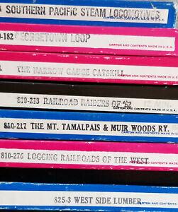 7 Blackhawk 8 mm Railroad Movies -The Mt.Tamalpais & Muir Woods Ry + other Cali