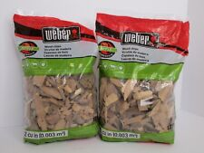 2 Bags of Weber Apple Wood Chips 192 Cu In Per Bag