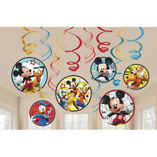 MICKEY MOUSE PARTY SUPPLIES12 SWIRL HANGING DECORATIONS KIT 12