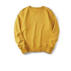 Mens 100% Cotton Sweater Sports Hoodie Workout Top Jumper Casual Sweatshirt