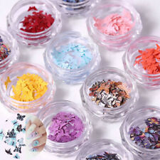 12Colors Charm 3D Butterfly Nail Manicure Art Flakes Slices Nail Sequins New Diy