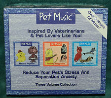 3 CD VOLUME SET! MUSIC FOR PETS! REDUCES STRESS/ANXIETY! BRAND NEW! DOGS CATS