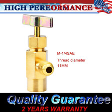 "R134a Refrigerant AC Can Bottle Tap 1/2"" ACME Thread Alloy Adapter Opener Valve"