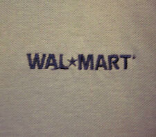 WAL-MART beat-up lrg polo shirt retail worker logo Halloween costume embroidery