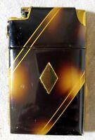 Vintage MARATHON Tuxedo Lighter & Cigarette Case Art Deco Gold Tone Enameled
