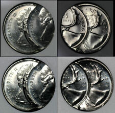 NICE COLLECTION - CANADA ERROR 25 cents 1976 Double Struck UNIQUE (b514)