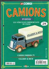FASCICULE ALTAYA CORGI CAMIONS D'ANTAN  N°29 CAMION FORDSON 7V VILLEROY & BOSH