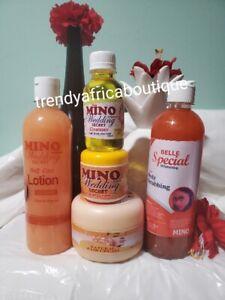 Mino wedding secret Halfcast set: lotion, body cream, scrub, face cream+cleanser